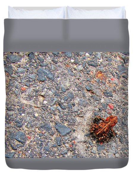 Mount Saint Helen's Frog Froggy Duvet Cover