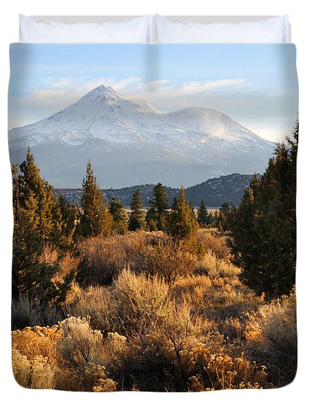 Mount Shasta In The Fall  Duvet Cover