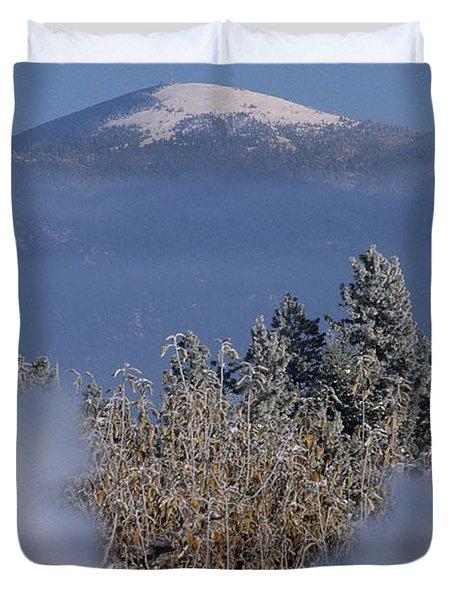 Mount Spokane Duvet Cover by Sharon Elliott