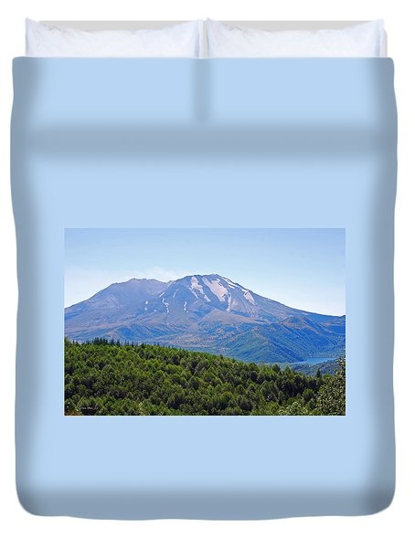 Mount St. Helens And Castle Lake In August Duvet Cover