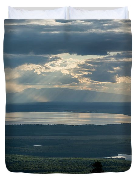 Mount Susitna Duvet Cover by Andrew Matwijec