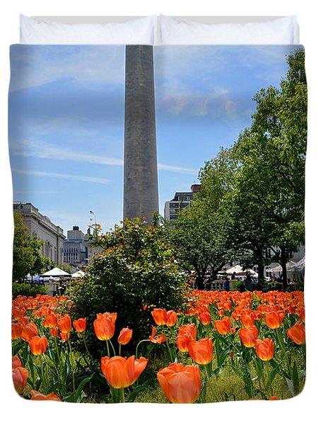 Mount Vernon Place Duvet Cover by Brian Wallace