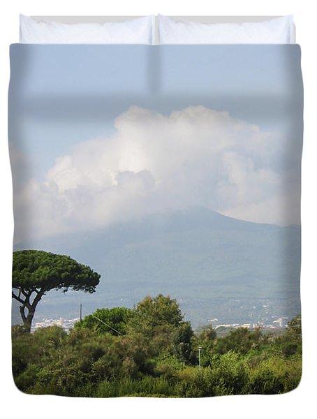 Mount Vesuvius Duvet Cover by Adam Romanowicz