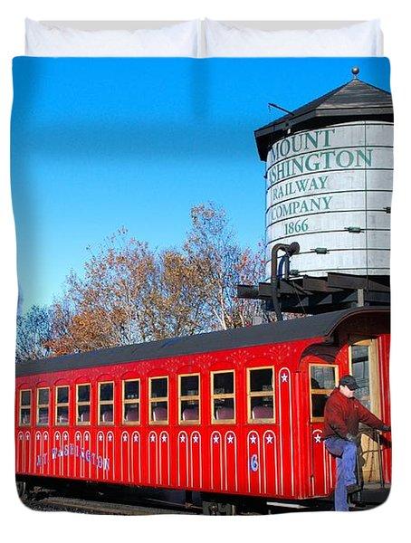 Mount Washington Cog Railway Car 6 Duvet Cover
