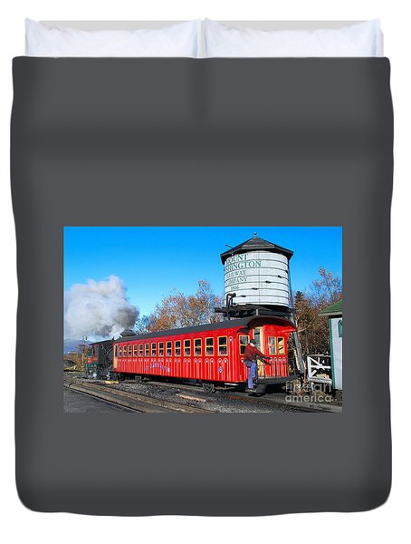 Mount Washington Cog Railway Car 6 Duvet Cover