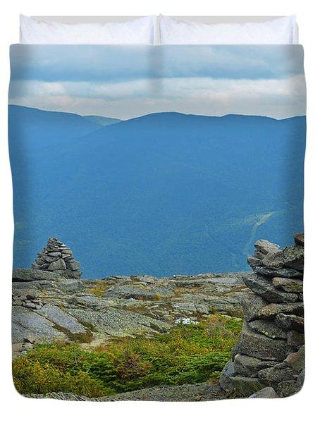 Mount Washington Rock Cairns Duvet Cover