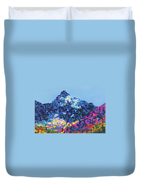 Mountain Abstract Jasper Alberta Duvet Cover by Joyce Sherwin