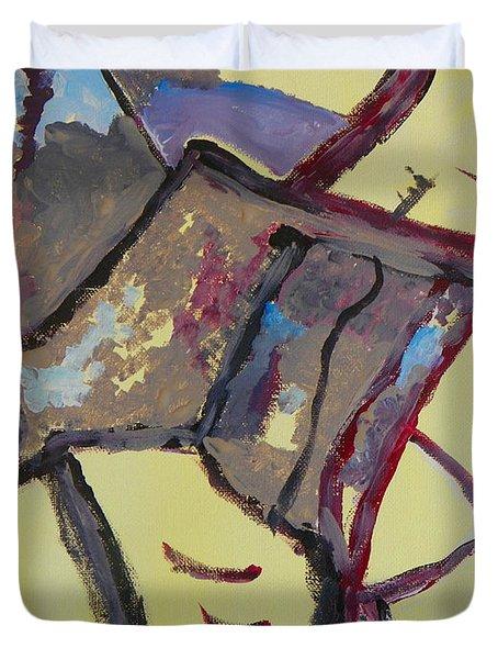 Mountain Antelope Duvet Cover by Lenore Senior
