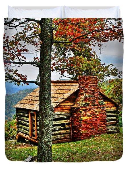 Mountain Cabin 1 Duvet Cover by Dan Stone