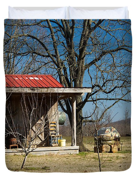Mountain Cabin In Tennessee 2 Duvet Cover by Douglas Barnett