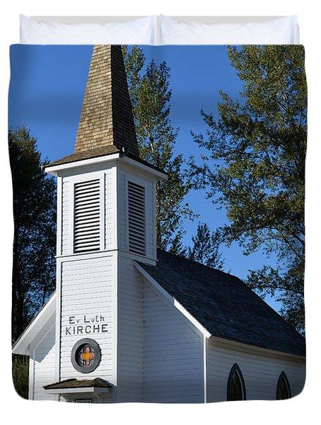 Mountain Chapel Duvet Cover