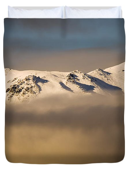 Mountain Cloud Duvet Cover by Tim Hester