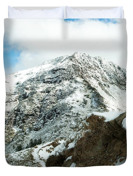 Mountain Covered With Snow Duvet Cover