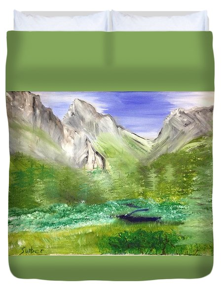 Mountain Day Duvet Cover