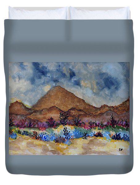 Mountain Desert Scene Duvet Cover