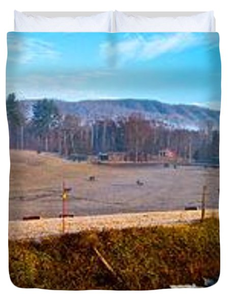 Mountain Farm Panorama Version 2 Duvet Cover