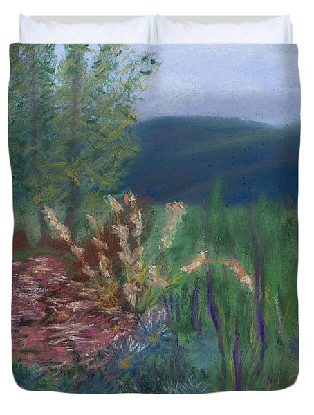 Mountain Garden Duvet Cover by Dana Strotheide