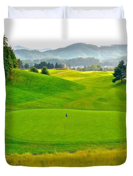 Mountain Golf Duvet Cover by Frozen in Time Fine Art Photography