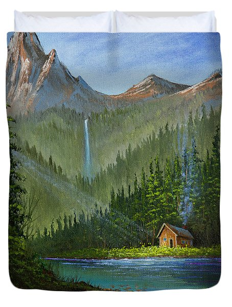 Mountain Haven Duvet Cover by C Steele
