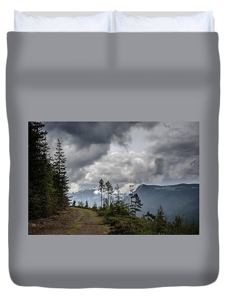 Mountain High Back Roads Duvet Cover