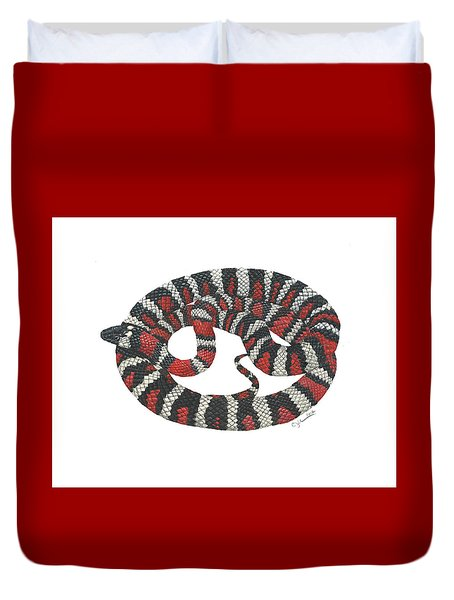 Mountain King Snake Duvet Cover by Cindy Hitchcock