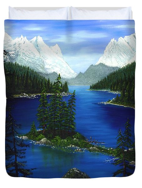 Mountain Lake Canada Duvet Cover