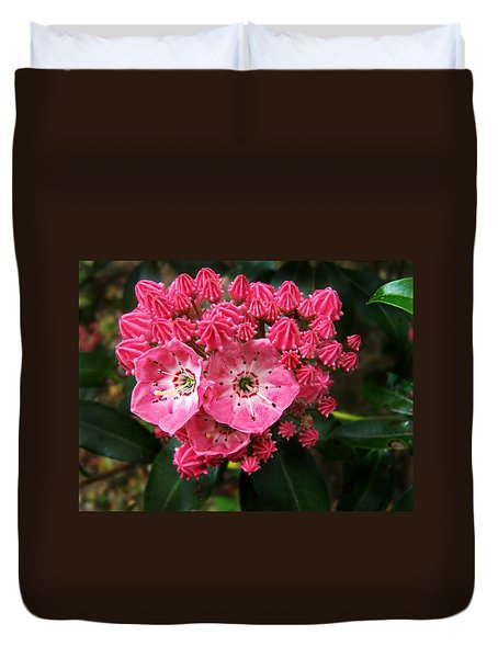Mountain Laurel ' Olympic Fire ' Duvet Cover by William Tanneberger