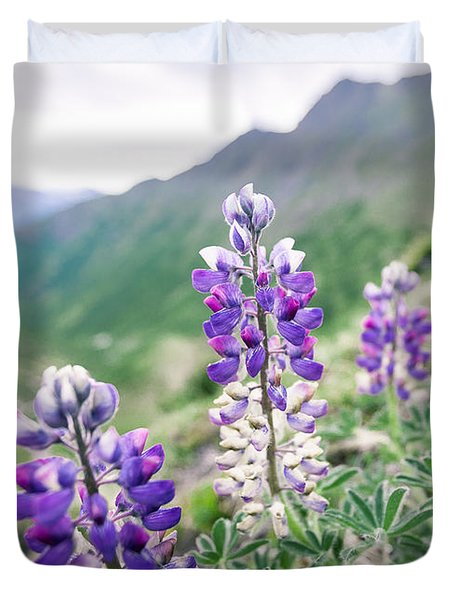 Mountain Lupine Duvet Cover