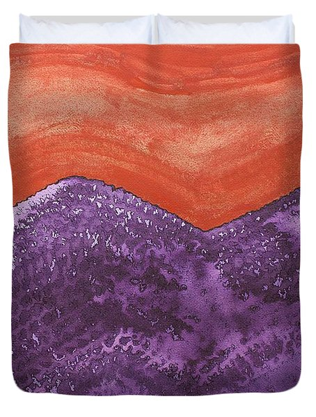 Mountain Majesty Original Painting Duvet Cover by Sol Luckman