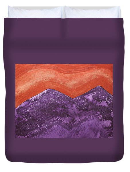 Mountain Majesty Original Painting Duvet Cover