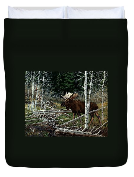 Mountain Monarch Duvet Cover