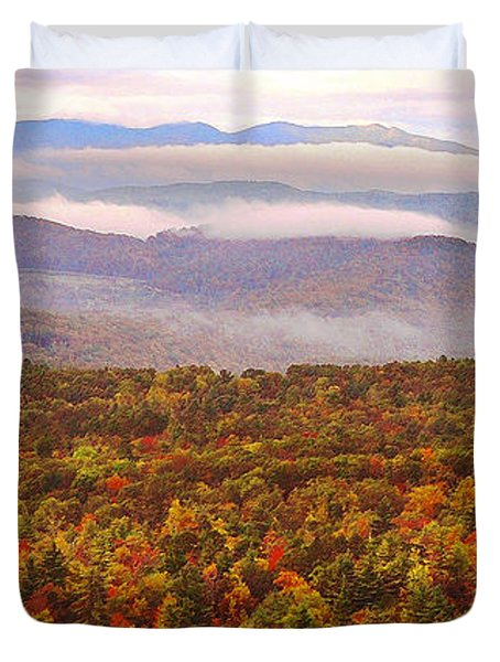 Mountain Mornin' In Autumn Duvet Cover by Lydia Holly