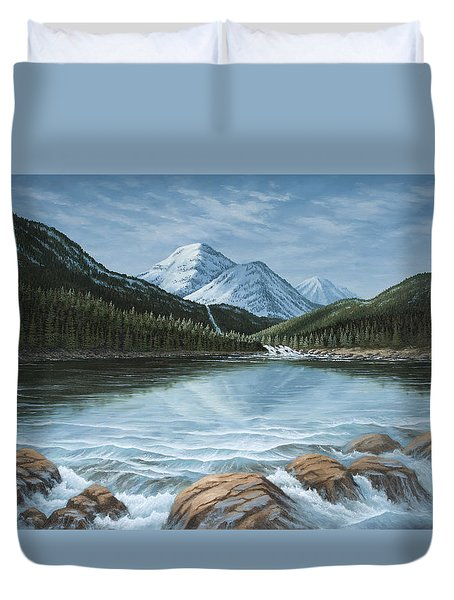 Mountain Paradise Duvet Cover