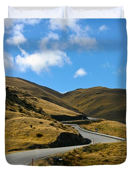 Mountain Pass Road Duvet Cover