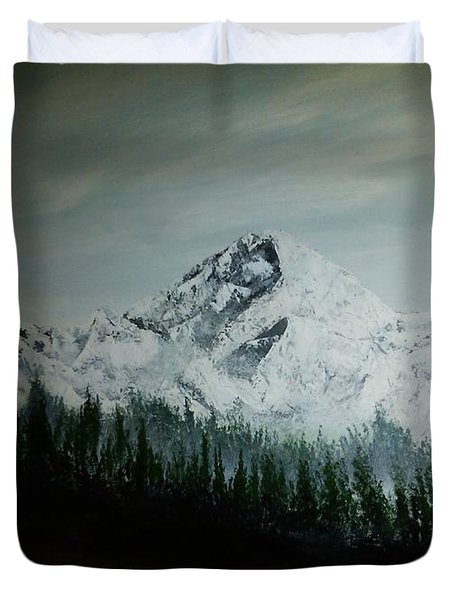 Mountain Range Duvet Cover by Pheonix Creations