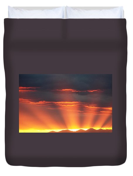 Mountain Rays Duvet Cover