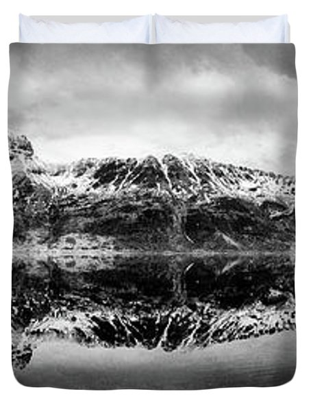 Mountain Reflection Duvet Cover by Dave Bowman