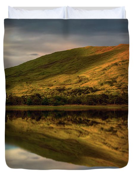 Mountain Reflection In Loch Awe Duvet Cover