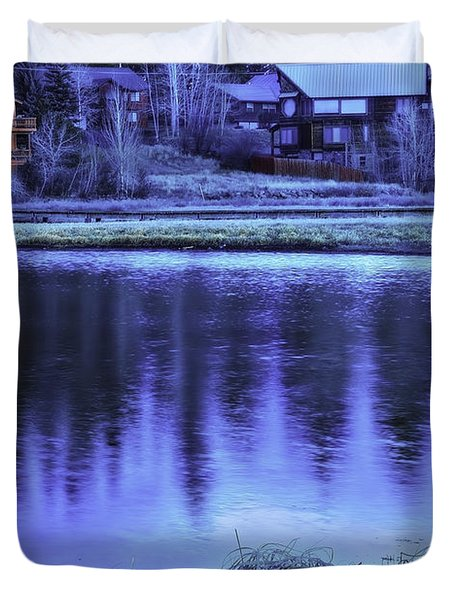 Duvet Cover featuring the photograph Mountain Retreat by Nancy Marie Ricketts