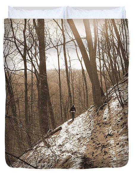 Mountain Side Duvet Cover by Melinda Fawver
