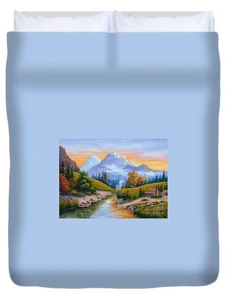 Mountain Stream Duvet Cover