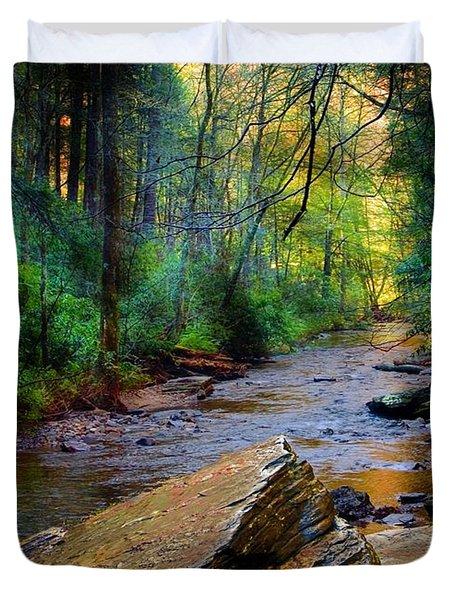 Mountain Stream N.c. Duvet Cover
