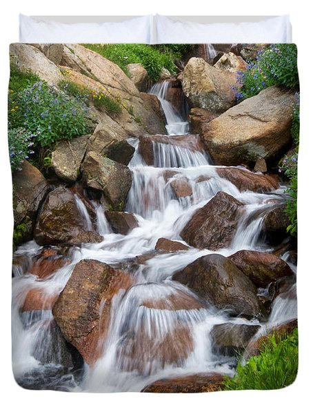 Duvet Cover featuring the photograph Mountain Stream by Ronda Kimbrow