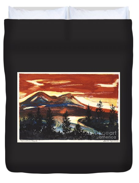 Mountain Sunset Duvet Cover