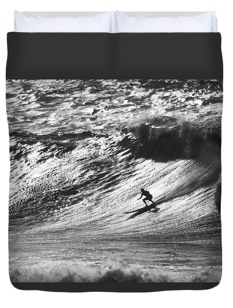 Mountain Surfer Duvet Cover by Sean Davey