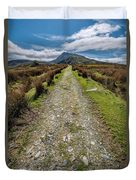 Mountain Track Duvet Cover by Adrian Evans