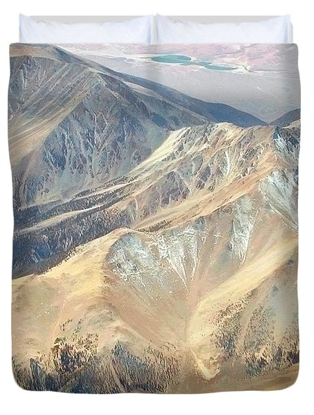 Duvet Cover featuring the photograph Mountain View 2 by Mark Greenberg