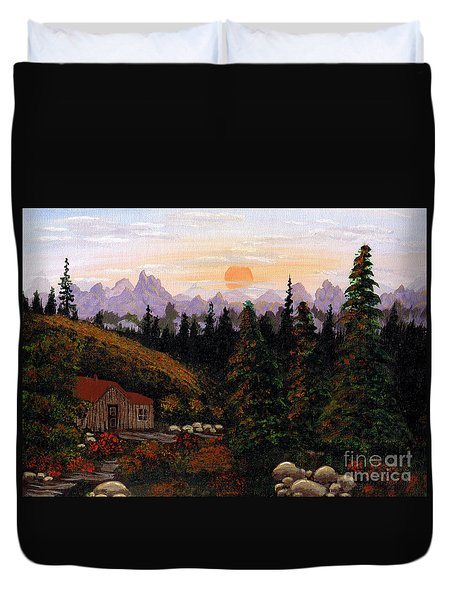 Mountain View Duvet Cover by Barbara Griffin