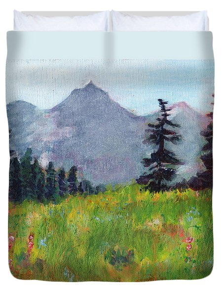 Mountain View Duvet Cover by C Sitton