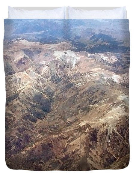 Duvet Cover featuring the photograph Mountain View by Mark Greenberg